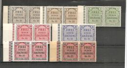RSDP008/  Zähldienst  1903 Mi.Nr. 1-8 (ex Nr. 6) **  Paare Mit Seitenrand Unten Links - Deutschland