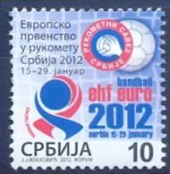 SRB 2012-ZZ EU CHAMPIONSHIP IN HANDBALL, SERBIA, 1 X 1v, MNH - Servië