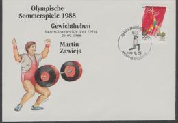 Korea South (1988)  - Cover -  / Olympic Games - Gewichtheben - Weightlifting - Haltérophilie - Ete 1988: Séoul