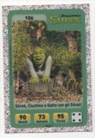 Sor110 Carta Da Gioco, Esselunga, Dreamworks Animation, Cartoni Animati, Shrek Ciuchino Gatto Stivali, N106 - Trading Cards
