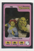 Sor114 Carta Da Gioco, Esselunga, Dreamworks Animation, Cartoni Animati, Shrek E Fiona, N.104 - Non Classificati