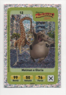 Sor115 Carta Da Gioco, Esselunga, Dreamworks Animation, Cartoni Animati, Madagascar 3, Giraffa, Ippopotamo, N.12 - Trading Cards