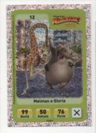 Sor116 Carta Da Gioco, Esselunga, Dreamworks Animation, Cartoni Animati, Madagascar 3, Giraffa, Ippopotamo, N.12 - Trading Cards