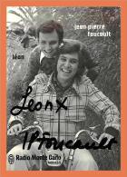 Jean Pierre Foucault - Léon - Radio Monte Carlo ( Dédicace )  // Format CPM - Artistes