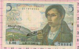 5 Francs Berger, Ref Fayette 5-4 état SPL - 1871-1952 Anciens Francs Circulés Au XXème