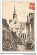 Béhuard, 49 (Maine-et-Loire), L´Eglise, Recto-Verso, Circulée Cachet Poste Bouchemaine 30 Juillet 1908 - France