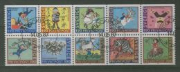 SWEDEN 1987 ASTRID TALES BOOKLET PANE USED - Usati