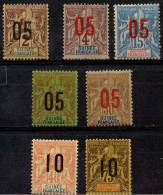 Guinée (1912) N 48 à 54 * (charniere)