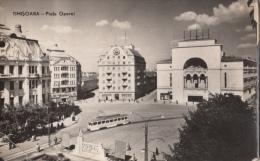 TRAM ,TRAMWAYS, TIMISOARA OPERA SQUARE, POSTCARD, ROMANIA - Tramways