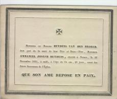 Buydens Emmanuel, Namur, 26 Novembre 1835 - Obituary Notices