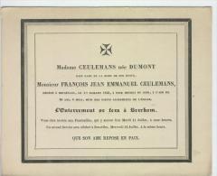 Ceulemans, François époux De Mme Dumont, Bruxelles 1-7-1843 - Obituary Notices