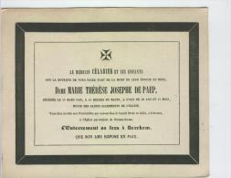 De Paep Marie épouse Docteur Célarier, Anvers 17-3-1843 - Obituary Notices