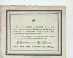 De Bock Philippe, Anvers 29-6-1837 - Obituary Notices