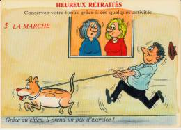 Heureux Retraités - 5 La Marche - Humour