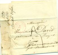"""Belgique - Précurseur Stavelot Vers Francoumont Du 26/02/1840, Oblitéré """"STAVELOT"""", Superbe, See Scan - 1830-1849 (Belgique Indépendante)"""