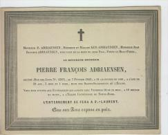 Adriaensen Pierre, Révérend, Anvers 7-2-1843 - Obituary Notices