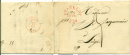 """Belgique - Précurseur Stavelot Vers Liège Du 20/07/1838, Oblitéré """"STAVELOT"""", Superbe, See Scan - 1830-1849 (Belgique Indépendante)"""