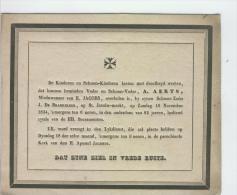 Aerts A, Wedr Van Jacobs E., Anvers 16-11-1834 - Obituary Notices