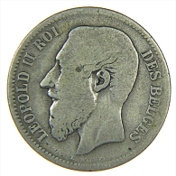 BELGIO BELGIQUE LEOPOLD II 2 FRANCS 1867 (1) ARGENTO SILVER SILBER - 1865-1909: Leopoldo II