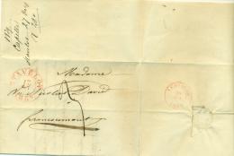 """Belgique - Précurseur Stavelot Vers Louvain Du 27/10/1839, Oblitéré """"STAVELOT"""", Superbe, See Scan - 1830-1849 (Belgique Indépendante)"""