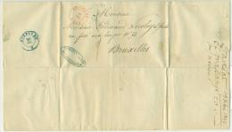"""Belgique - Précurseur Stavelot Vers Bruxelles Du 19/12/1842, Oblitéré """"STAVELOT"""", Superbe, See Scan - 1830-1849 (Belgique Indépendante)"""
