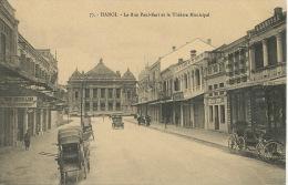 Hanoi La Rue Paul Bert Et Theatre Municipal No 77 Edit Gd Magasins Reunis - Viêt-Nam