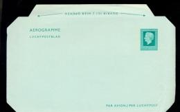 AEROGRAMME * POSTAL STATIONERY * NETHERLANDS * JULIANA * 75c MINT - Postal Stationery