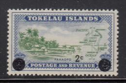 Tokelau MNH Scott #10 2c Surcharge On Tokelau #3 - Tokelau