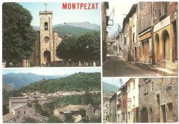 Dépt 07 - MONTPEZAT-SOUS-BAUZON - (CPSM Grand Format) - Multi-Vues - France