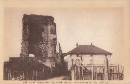 CPA 65 / CASTELNAU RIVIERE BASSE / RUINE DE LA TOUR / 1949