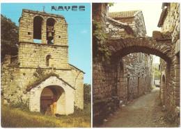 Dépt 07 - NAVES - (CPSM Grand Format) - 2 Vues - Vieille Rue Et Église Romane - France