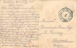 TO-13 : 1141  : Carte Postale De Savatan Avec  Cachet GR. ART. FORT POSTE DE CAMPAGNE N° 4