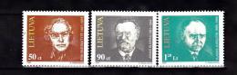 LITUANIE 1997 CELEBRITES 549 A 551 MNH - Lituanie