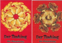 DER TINTLING  DIE PILZEITUNG  FUNGHI CHAMPIGNONS MUSHROOM SETAS   DUE CARTOLINE DER TINTLING DIE PILZEITUNG - Cartoline