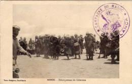 """Débarqu. Coloniaux - Cachet Mil.  """"Campagne Du Maroc, Casablanca """" (56471) - Maroc"""