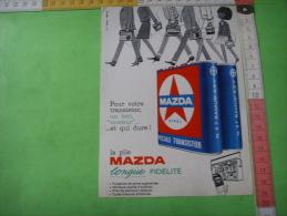 68)  Publicite : Pile Madza ,  Verso  Butaflash - Werbung