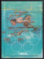 Palau Scott #304 MNH Souvenir Sheet 50c Dawn Fraser - Barcelona Olympics - Palau