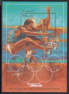 Palau Scott #306 MNH Souvenir Sheet 50c Bob Beamon - Barcelona Olympics - Palau