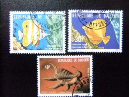 REPUBLIQUE DE DJIBOUTI 1978 POISSONS PECES Yvert Nº 488 /490 º FU - Djibouti (1977-...)