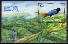 PAPOUASIE NOUVELLE-GUINEE. Oiseau Paradisier Bleu. Un Bloc Feuillet # 5 NEUF ** . - Parrots