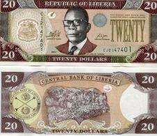 Liberia (2011)  -20 Dollars  P New  UNC - Liberia