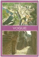 Dépt 07 - VOGUE - (CPSM Grand Format) - 2 Vues - - France