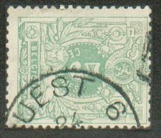 N°45 - 5 Centime Vert Obl. Sc Ambulant OUEST 6 - 8860 - 1869-1888 Lion Couché