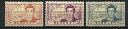 """Dahomey YT 110 à 112 """" Explorateur R. Caillé, 3 TP """" 1939 Neuf* - Unused Stamps"""
