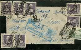 1939  Carta De Luto  Recommandata  Censura De Salamanca - 1931-50 Cartas