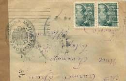 Carta  Por La Francia    Censura Militar - Barcelona - 1931-50 Cartas