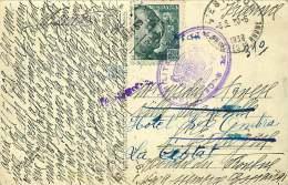 1939   Tarjeta Postal  Madrid Por La Francia  «Censura Militar / Madrid» - 1931-50 Cartas