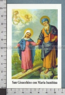 Xsb1208 SAN GIOACCHINO E MARIA BAMBINA Santino Holy Card - Religione & Esoterismo