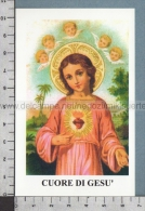Xsb1211 CUORE DI GESU BAMBINO Santino Holy Card - Religion & Esotericism