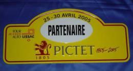 "Plaque De Rallye ""TOUR AUTO"" 2005 - ""Partenaire"" - Plaques De Rallye"
